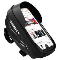 Waterproof MTB Bike Frame Front Bag Touchscreen Bicycle Mobile Phone Holder Bag