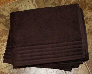 2 Vossen Duschtücher Vienna style dark brown, ca. 614 g/m²