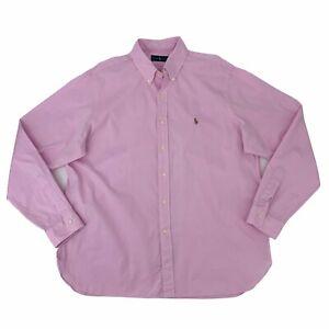 Ralph Lauren Dress Shirt Men's Size 17 1/2 - 44 Pink Long Sleeve Button Down