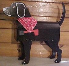 💗 Black Lab Mailbox Custom Animal Mailboxes Postal Mail Box Dog