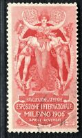 MILAN INTERNATIONAL EXHIBITION STAMP/LABEL Italy 1906 Used ART NOUVEAU 2WHITE77