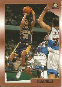 Reggie Miller Topps 1998/99 - NBA Basketball Card #158