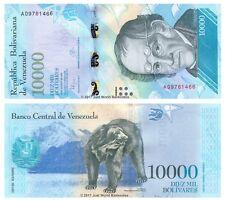 VENEZUELA 10000 évolution 2016 (2017) Premier Prefix 'A' P-Nouveaux billets UNC