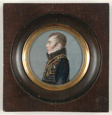 """Portrait of Napoleonic marshal's aide-de-camp (?)"", French miniature, 1809/1814"