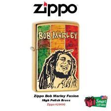 Zippo Bob Marley Fusion Lighter, High Polish Brass #29490