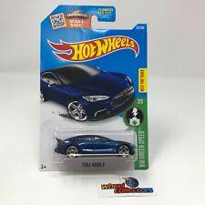 Tesla Model S #242 * Blue * 2016 Hot Wheels * ZE9