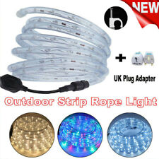 2-50m LED Rope Tube String Mains Plug Fairy Lights Outdoor Flashing Garden Lamp