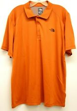 The North Face Mens Sz Large Light Orange Flash Dry Polo Athletic Shirt