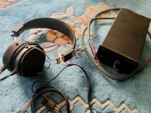 Perfect Vintage Stax SR-40 electret headphones Earspeakers + SRD-4 Audiophile