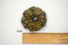 Silk Scrunchies Ponytail Holder Elastic Ties Hair Band Khaki Bronze Olive SC025