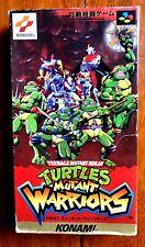 TURTLES MUTANT WARRIORS SUPER FAMICOM SFC SNES JAPAN (NTSC-J) GOOD CONDITION