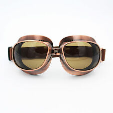 Smoke Motorcycle Retro Vintage Aviator Pilot Bike Racing Goggles Glasses Eyewear