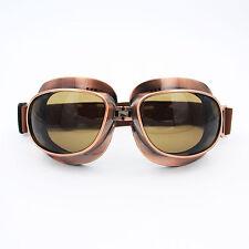 Retro Motorcycle Bike Cruiser Goggles Copper Frame Anti Dust Wind Fog Glasses TR