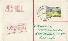 Stamp Papua New Guinea 1975 on cover sent registered RELIEF No 1 postmark