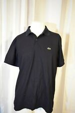 Lacoste Mens Size 6 Black Short Sleeve Polo Shirt Alligator Tennis Golf France
