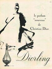 M- Publicité Advertising 1963 Parfum Diorling Christian Dior par René Gruau