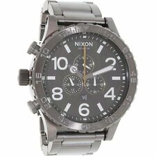 Authentic Brand New Nixon Watch - 51-30 Chrono Gunmetal/Green Oxyde A083-2069-00