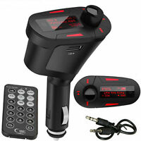 Remote Car Wireless FM Transmitter Modulator Radio Audio MP3 Player USB SD MMC
