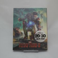 Iron Man 3 (2013, Blu-ray) Lenticular Slip Case Edition / 2D +3D Combo