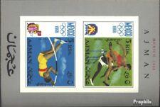 Ajman Blok 32A postfris 1968 Spelen Zomer