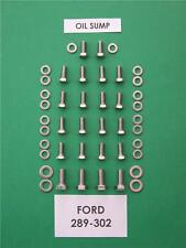 SB  FORD 289-302 / 351W  oil sump stainless steel hex head bolt kit