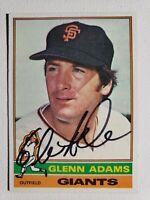 1976 Topps Glenn Adams Auto Autograph Card Signed Giants Twins Blue Jays #389