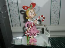 "JIM SHORE- 2018 GRINCH FIGURINE- 4-1/2""H-CINDY LOU WITH CANDY CANE -NEW IN BOX"
