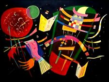 Wassily Kandinsky Composition X Repro, 100%  Hand Painted Oil Painting 30x40in