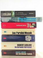7 x Robert Ludlum  - Bourne Borowski Thriller Krimi Psycho Sammlung Bücherpaket