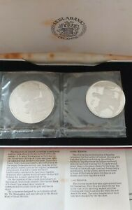 Island 1974 Silver 1000 & 500 Kronur In Original Case With Certificate.