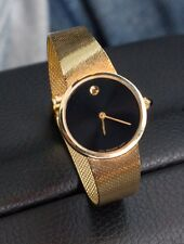 Movado Zenith 14k Yellow Gold Woven Mesh Bracelet Watch