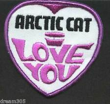 Vintage Arctic Cat Patch Snowmobile Sled, Ski I Love You Cat Skidoo