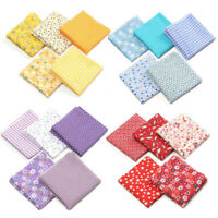 KQ_ 5Pcs 50x50cm Floral Dot Print Cotton Fabric Patchwork DIY Sewing Quilting Cl
