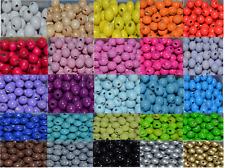 50 Holzperlen Perlen 10 mm Fädeln für Schnullerketten Farbwahl
