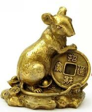 Chinese zodiac rat Brass small place A thriving business mouse copper money rat