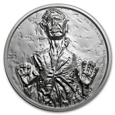 2017 Niue Star Wars Han Solo Carbonite Ultra High Relief 2 oz .999 Silver Coin