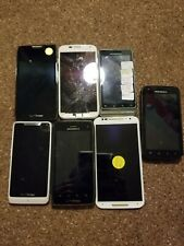 Motorola Broken Smartphone Lot of 8 parts only