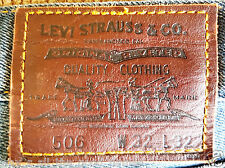 LEVI STRAUSS Original 506 LEVI'S JEANS Mens W32 L32 Zip Fly - Exc Pre-Owned