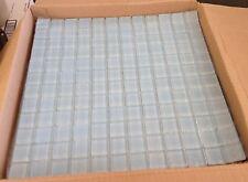 "1""x1"" Glass Tile Mosaic Kitchen Bath Wall: Light Blue  - full sheet 12""x12"""