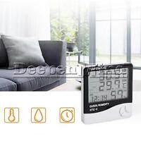 HTC-2 LCD Digital Thermometer Hygrometer Weather Station Alarm Clock Out/indoor