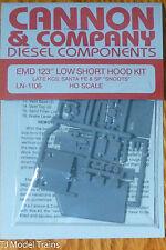 "Cannon & Company #1106 EMD 123 Low Short Hood Kit, Late KCS, Santa Fe & SP""SNOOT"