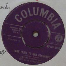 """Johhny Duncan(7"""" Vinyl 1st Issue M/Silver Label)Last Train To San Fernado-Ex/Ex"""
