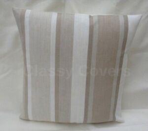 """Laura Ashley Designer Cushion Cover """"AWNING STRIPE"""" TRUFFLE Various Sizes"""