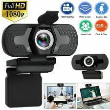 Cámara web HD 1080P Cámara Web Cámara de enfoque automático con micrófono para PC Laptop Escritorio