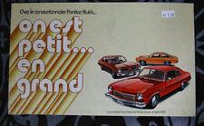 PONTIAC BUICK 1973 brochure sales catalog - French - Canadian Market