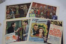 "4 Original Movie Lobby Card 11"" x 14"" Mademoiselle Fifi Black Magic"