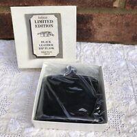 Vintage Habitat Limited Edition Black Leather Hip Flask Made in UK