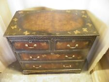Decorative Antique  Painted & Lacquered Walnut Georgian Style Chest Drawers