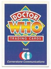 1994 Cornerstone DR WHO Base Card (1) Check List #1