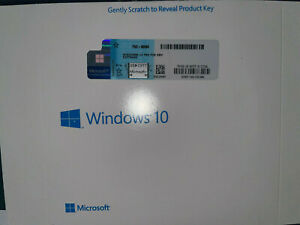 WlNDOWS 10 PROFESSlONAL Pro 64 Bit Dvd Sealed Product Key!!